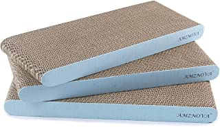 AMZNOVA Cat Scratcher Cardboard Scratching Pads Scratch Lounge Sofa Bed, Baby Blue