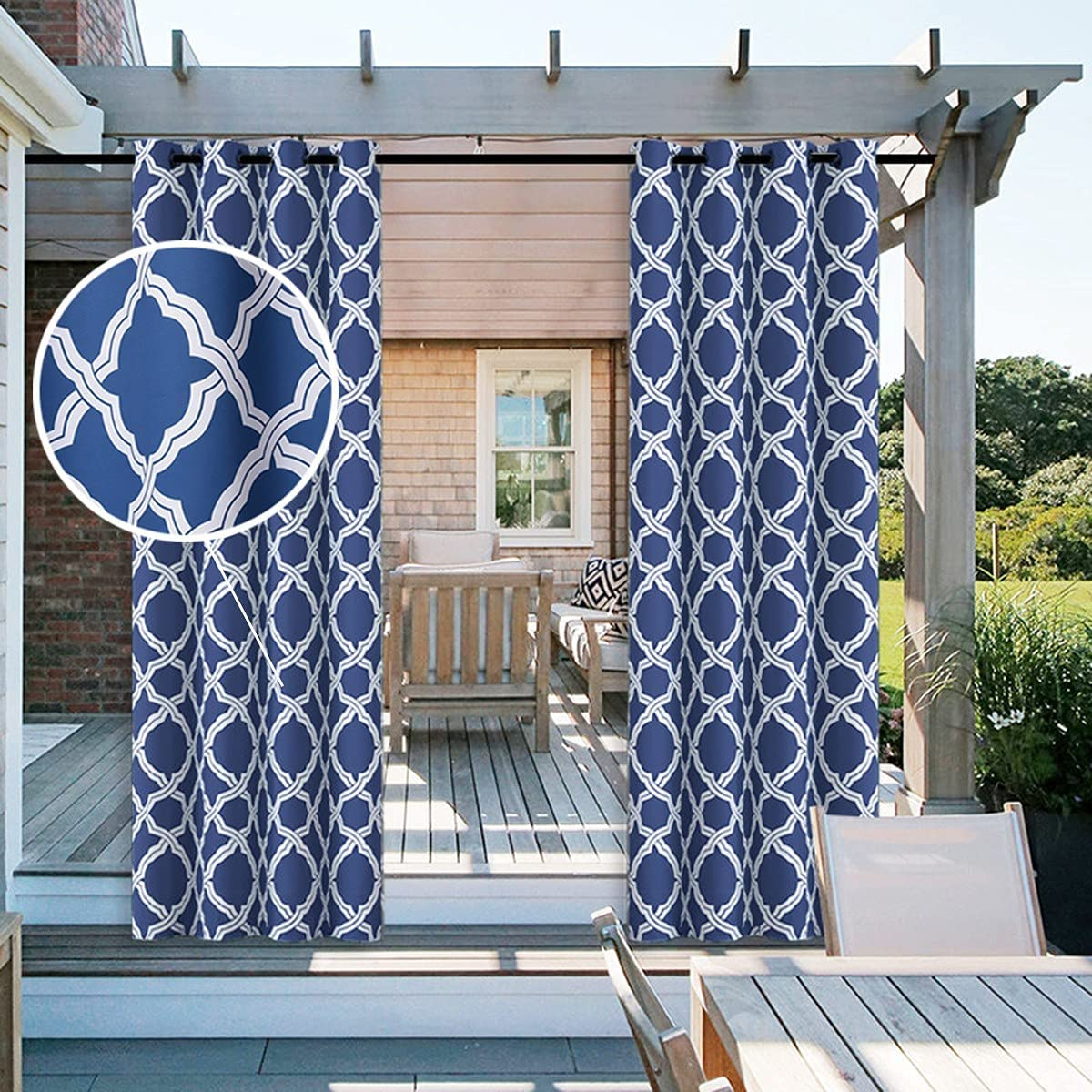 PPGE Home 1 Panel Jacquard Rustproof with Max Popular product 41% OFF Outdoor Curtains Style