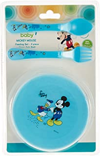 Disney - Baby 3pcs Feeding set, Bowl, Spoon and Fork - Mickey Mouse