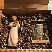 Geschenkset 2-teilig Besondere Oma Oma//Muttertag Willow Tree Figur//Windlicht Geburtstag schenken-24