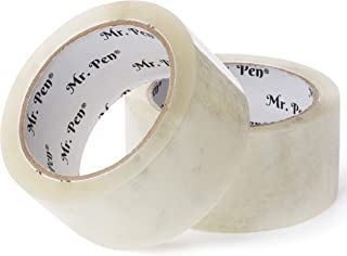 Mr. Pen- Packing Tape, 2 Pack, 2 inch Wide, 60 Yards, 1.9mil, No Smell, Shipping Tape, Packaging Tape, Packing Tape Rolls, Clear Packing Tape, Moving Tape, Box Tape, Packing Tape Refill, Mailing Tape