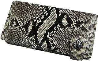 [マトゥーリ]Maturi マトゥーリ ダイヤモンドパイソン 一枚革 コンチョ付き 長財布 MR-033