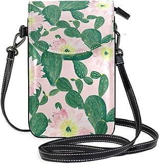 ZZKKO Mini-Kaktus-Umhängetasche, Handtasche, Leder, für Damen, lässig, täglich, Reisen, Wandern, Camping