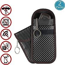 2 Pack Faraday Bag for Car Key Fob,Kitmate Premium Faraday Bag Key Fob Protector,RFID Signal Blocking, Anti-Theft Pouch, Anti-Hacking Case Blocker (Carbon Fiber Texture)