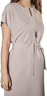 Hamile ve Emzirme Elbisesi: Mamma Lattes Hamile ve Emzirme Üst Kalite Şık Ofis Elbisesi Esnek Kırışmayan Kumaş Bej Siyah Renk 38-44 EU