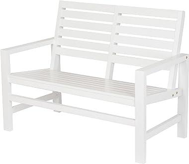 """Shine Company 4224WT Contemporary Garden Bench, 40"""", White"""