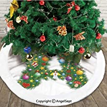 Tree Star from Winter Celebrations Praying Angel Mini Stars Letter A Font Concept,Christmas Tree Skirt Mat,Color,30 inches,Christmas Holiday Party Decoration