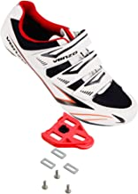 Venzo Bicycle Men's or Women's Road Cycling Riding Shoes - 3 Straps- Compatible with Peloton Shimano SPD & Look ARC Delta ...