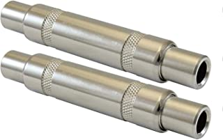 """Cables Female TS Coupler ¼"""" Audio Plug Jack Adapter, ¼"""" to ¼"""" Barrel Mono Full Metal-2 Pack"""