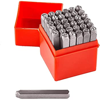 """Vector Number & Capital Letter Punch Set 36 Pc (6mm 1/4""""): 09098"""
