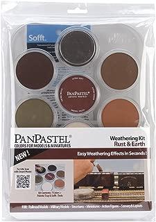 Colorfin PanPastel Ultra Soft Artist Pastel Set, 9ml, Weathering, Rust/Earth, 7-Pack