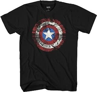 Marvel Captain America Shield Logo Mens T-Shirt