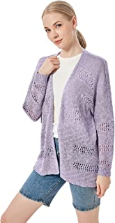 Long Sleeve Cardigans Sweaters for Women Solid Color...