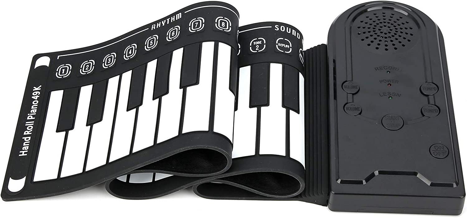 Deror Nippon regular agency Portable Rolling Up Piano Keyboard 49 Keys Hand Today's only Electronic