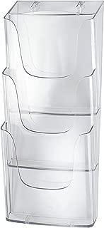 SIGEL LH135 Porta-folletos de pared acrylic, con 3 compartimentos, Material acrílico, para A4, 2 unds.