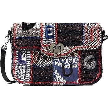 Desigual Petit sac bandoulière à rabat femme avec patchwork (19waxa36) taille 16 cm