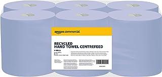 AmazonCommercial Lot de 6 rouleaux de papier essuie-mains recyclé à dévidage, 2700 feuilles