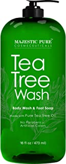 Majestic Pure Tea Tree Body Wash - Formulated to Combat Dry, Flaky Skin - Soothes, Nourishes and Moisturizes Irritated, Ch...
