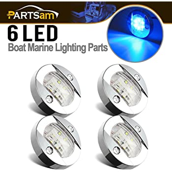 Navigation Stern//Anchor//Boat SS 12V 36-LED STAINLESS STEEL PLUG-IN POLE LIGHT