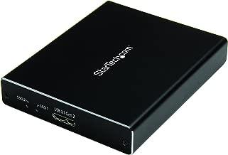 StarTech.com Dual mSATA Enclosure - RAID - mSATA SSD Enclosure - USB 3.1 (10Gbps) - USB-A & USB C External Enclosure - Aluminum (SMS2BU31C3R)