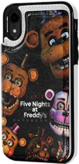 iPhone XR Case Leather Card Slot Funny Freddy's FNAF (2) Black