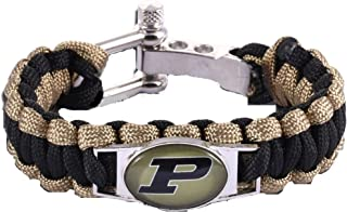 Swamp Fox Purdue Boilermakers Paracord Bracelet Adjustable with Insert Pin 7