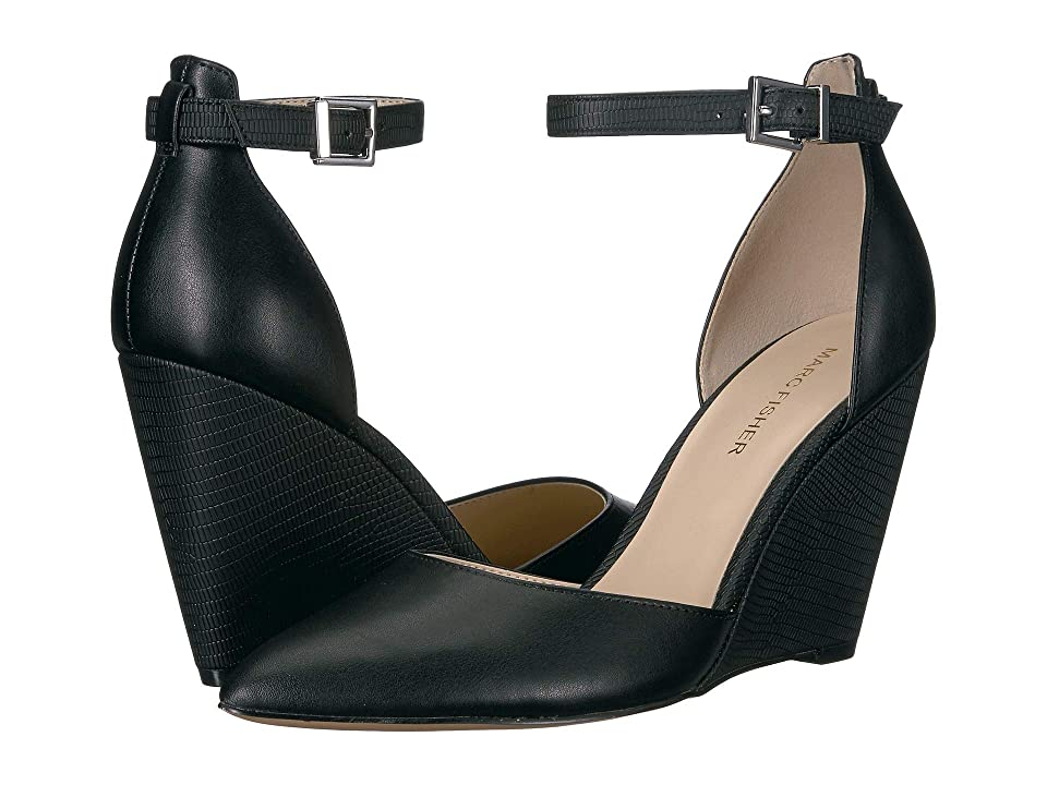 09ae01fac4fe Marc Fisher Betti (Black) Women s Wedge Shoes