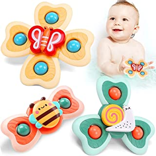 UrPalpitate 🦋New Suction Cup Spinning Top Toy, 3 Pack Spin Sucker Toy, Bath Toys Early Learner Toy Creative Educational R...