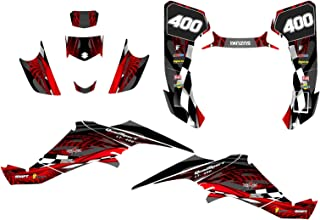 Suzuki LTZ 400 Graphics Decal Kit Fits 2003-2008 Design #3500 (Red)
