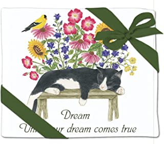 Alice's Cottage Cat and Bench Flour Sack Towel - Set of 2
