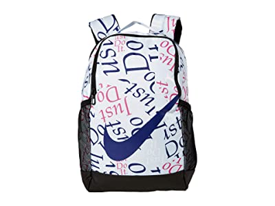 Nike Kids Brasilia Just Do It Backpack (Little Kids/Big Kids) (Football Grey/Regency Purple) Backpack Bags