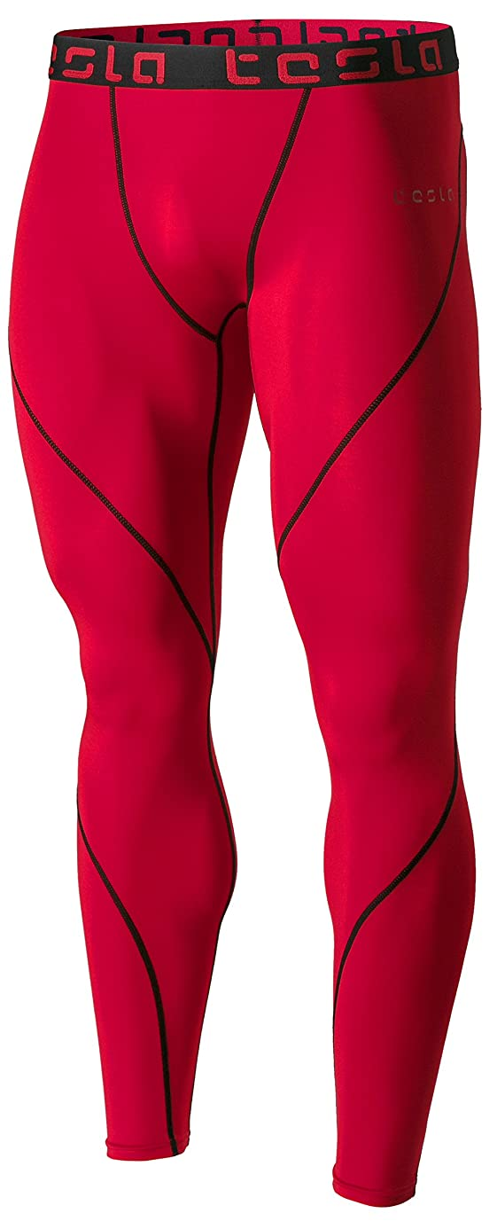 TSLA Men's Compression Pants Baselayer Cool Dry Sports Tights Leggings