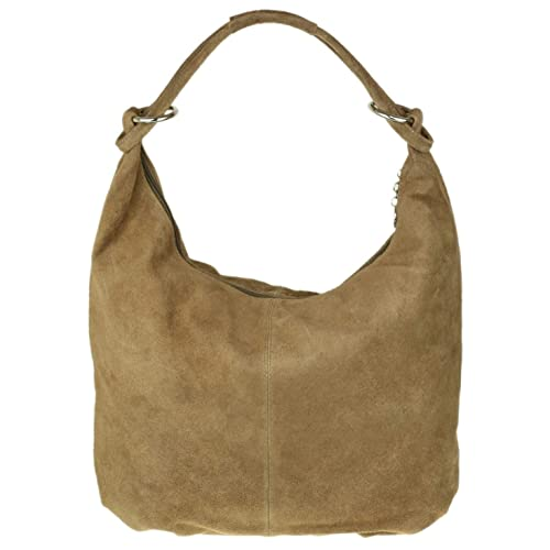 5e978e2ca734 Girly HandBags Hobo Italian Suede Leather Shoulder Bag
