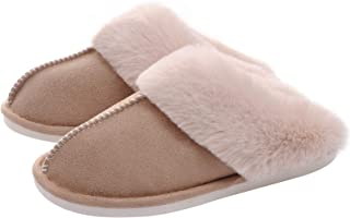 Women's House Slippers Memory Foam Fluffy Soft Slippers,...