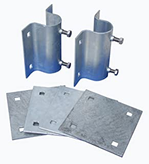 Dock Edge Howell Dock Hardware Stationary Side Leg Holder Kit with 2 Side Leg Holders and 4 Backer Plates
