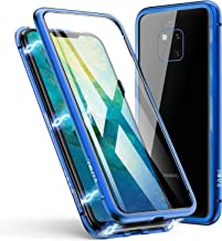 Huawei Case, ZHIKE Magnetic Adsorption Case Metal Frame Tempered Glass Back with Built-in Magnet Cover for Huawei Huawei Mate 20 Pro Case