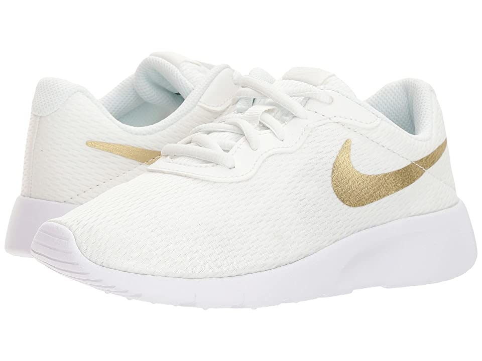 Nike Kids Tanjun (Little Kid) (Summit White/Metallic Gold Star/White) Boys Shoes
