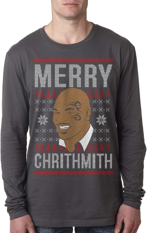 MERRY CHRITHMITH Mike Tyson Christmas Raglan or t-shirt holiday shirt boxing