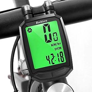 comprar comparacion BACKTURE Cuentakilómetros para Bicicleta, Velocímetro inalámbrico para Bicicleta con Pantalla LCD de retroiluminación, Imp...