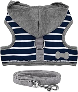 Stock Show Pet Dog Vest Harness and Leash Set with Cute Bowtie Small Dog Outdoor Walking Jackets Breathable Fashion Jeans Cloth for Small Puppy Dogs Teddy Poddle