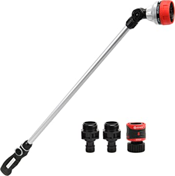 7-Pattern Eden 94609-EDAMZ Metal 33 Watering Wand W//Quick Connector and Adapters Set