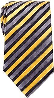 Retreez Retro Three-Color Striped Woven Microfiber Men's Tie - Various Colors