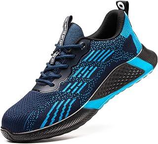 Safety Shoes Men Women Steel Toe Cap Trainers Breathable Work Sneakers Lightweight Industrial Shoes Work Utility Footwear ...