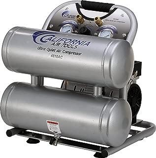 California Air Tools CAT-4610AC Ultra Quiet & Oil-Free 1.0 hp 4.6 gallon Aluminum Twin Tank Electric Portable Air Compressor, Silver