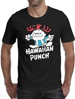 Funny Active Mens T-Shirt-Hi Hawaii Hibiscus Style Cotton Crewneck Short-Sleeve Tees