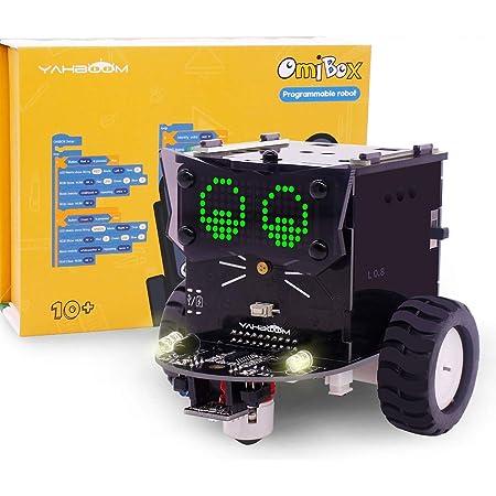 ICQUANZX ロボットキットは、Scratch 3.0学習コーディングカーに基づいたSTEM教育エレクトロニクスDIYカーを構築します
