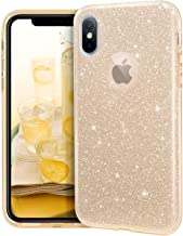 MATEPROX iPhone Xs case,iPhone X Glitter Bling Sparkle Cute Girls Women Protective Case for iPhone Xs/X 5.8