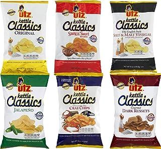 Utz Kettle Classics Potato Chips Variety 6 Pack- 8 oz. Bags
