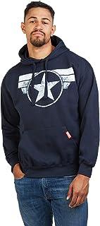Marvel Men's Captain America - Cap Logo Hoodie