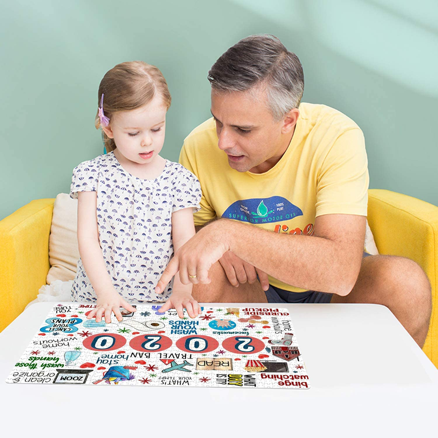 Home Decorations 2020 A Kids Kidbro 2020 Commemoration Jigsaw Puzzle 1000 Pieces for Adults 2020 Commemorative Jigsaw Puzzle for Family
